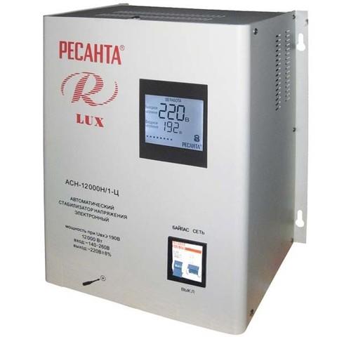 Стабилизатор напряжения Ресанта АСН LUX 12000 Н/1-Ц