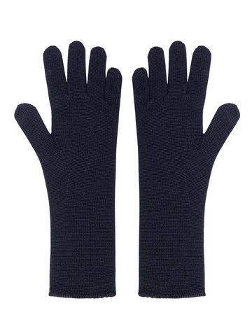 Женские перчатки черного цвета из шерсти и кашемира - фото 1