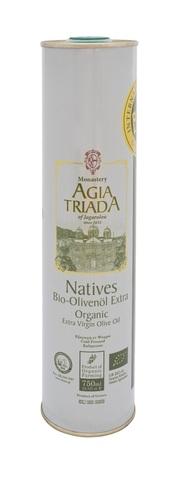 Оливковое масло греческое Органик Agia Triada 750 мл в жести
