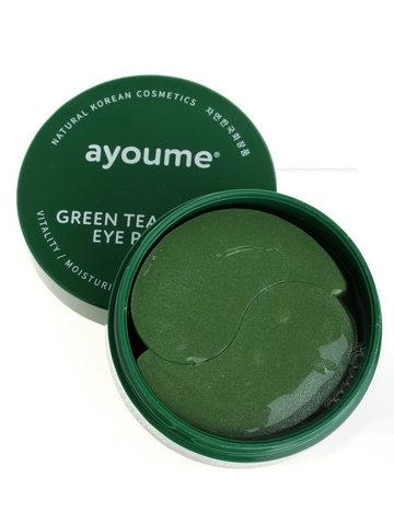 Патчи для глаз от отечности с экстрактом зеленого чая и алоэ AYOUME GREEN TEA ALOE EYE PATCH 60 шт