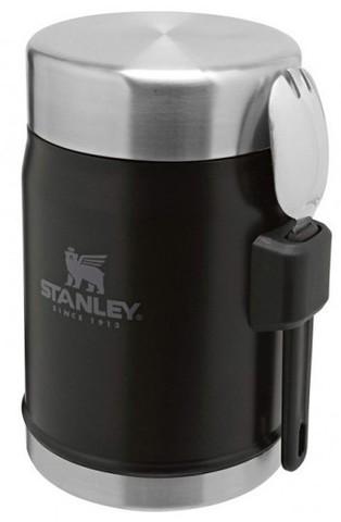 Картинка термос для еды Stanley classic 0.4l черный - 1