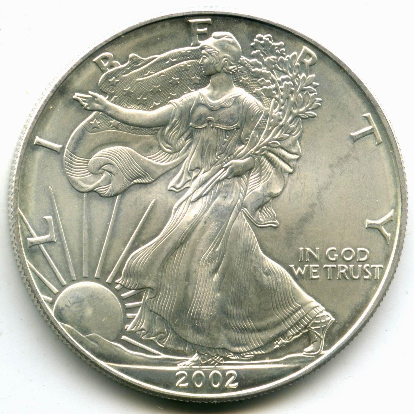 """1 доллар 2002 год США AU """"Шагающая свобода"""""""