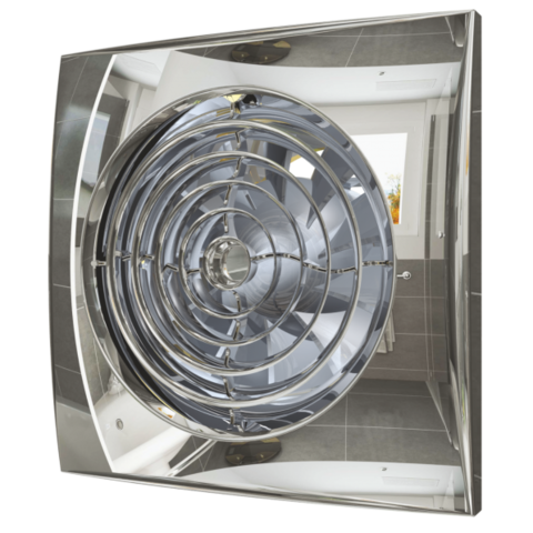 Вентилятор Эра AURA 4C CHROME D100 с обратным клапаном