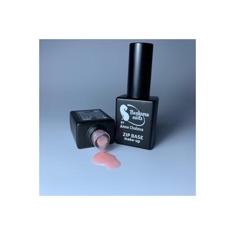 Bagheera Nails B-9.5 MAKE-UP ZIP BASE, База для гель-лака, каучуковая, полупрозрачныйоттенок 10 мл