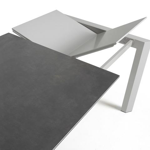 Стол Atta140 (200) x90 серый керамика