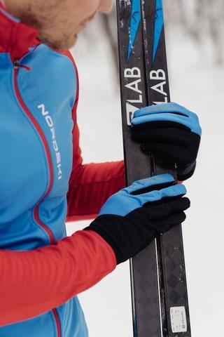 Лыжные перчатки Nordski Motion Black/Blue WS