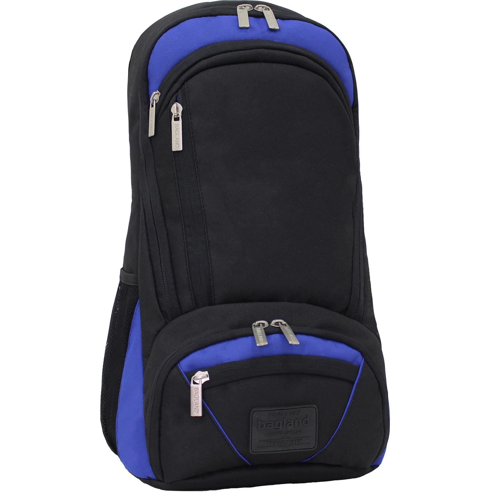 Рюкзак для ноутбука Bagland Granite 23 л. Черный/электрик (0012066) фото 1