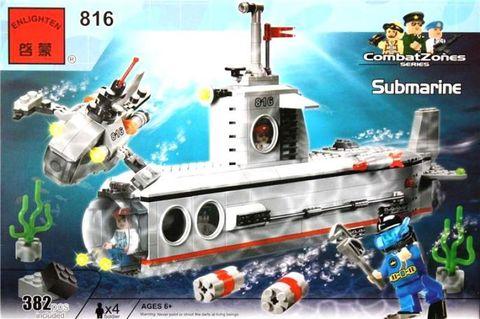 Конструктор 816 субмарина 382 дет.