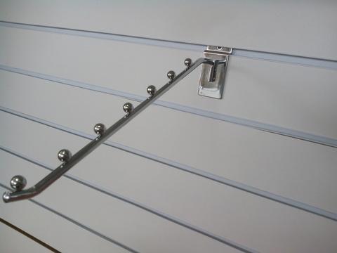 Кронштейн наклонный для экономпанели, 7 шаров, хром, L=350 мм, Ø8 мм, ЭП 3007
