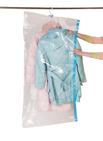 70*145 см с вешалкой вакуумный пакет для длинной одежды