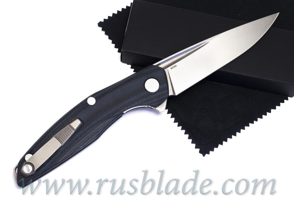Shirogorov 111 M390 G10 black blue 3D MRBS - фотография