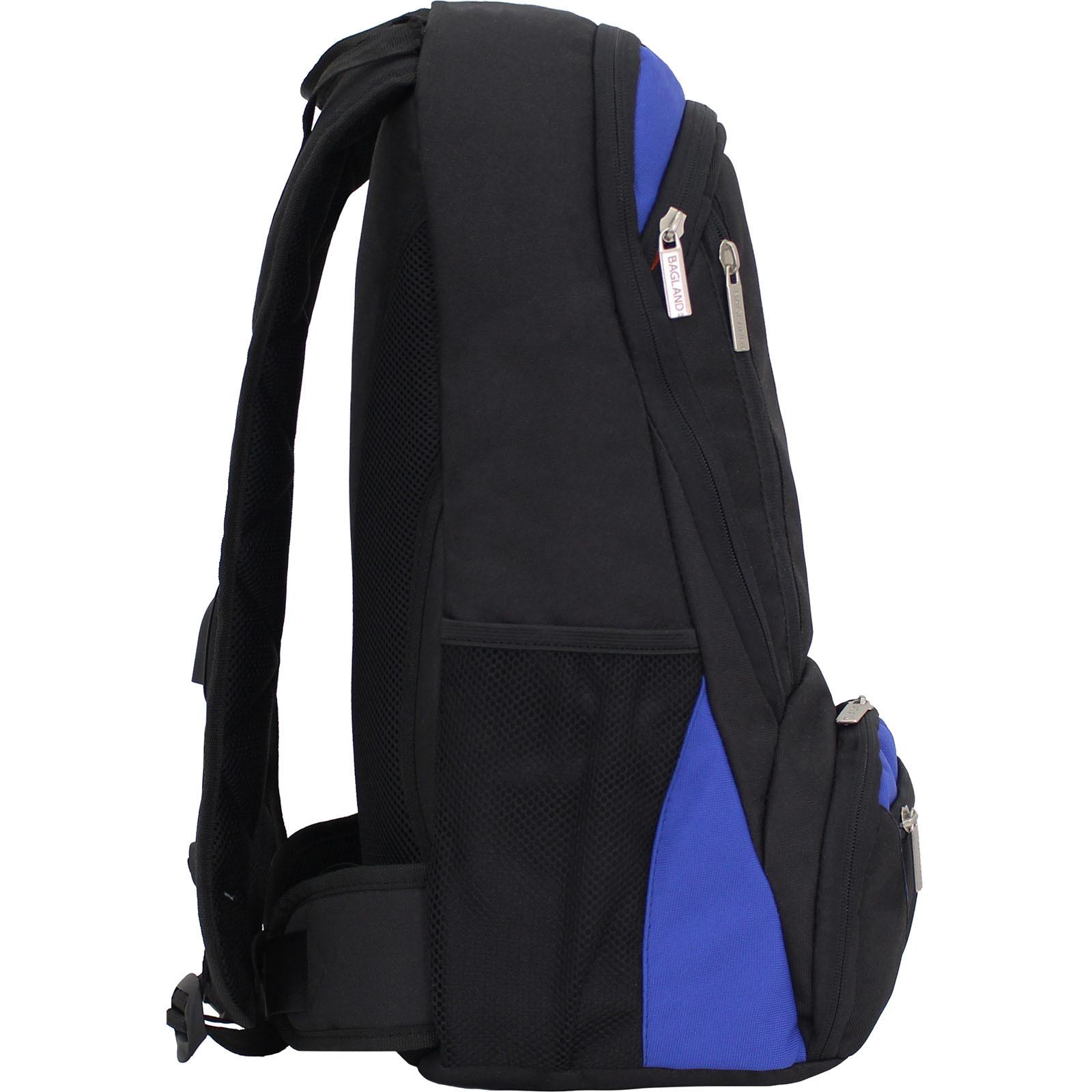 Рюкзак для ноутбука Bagland Granite 23 л. Черный/электрик (0012066) фото 2