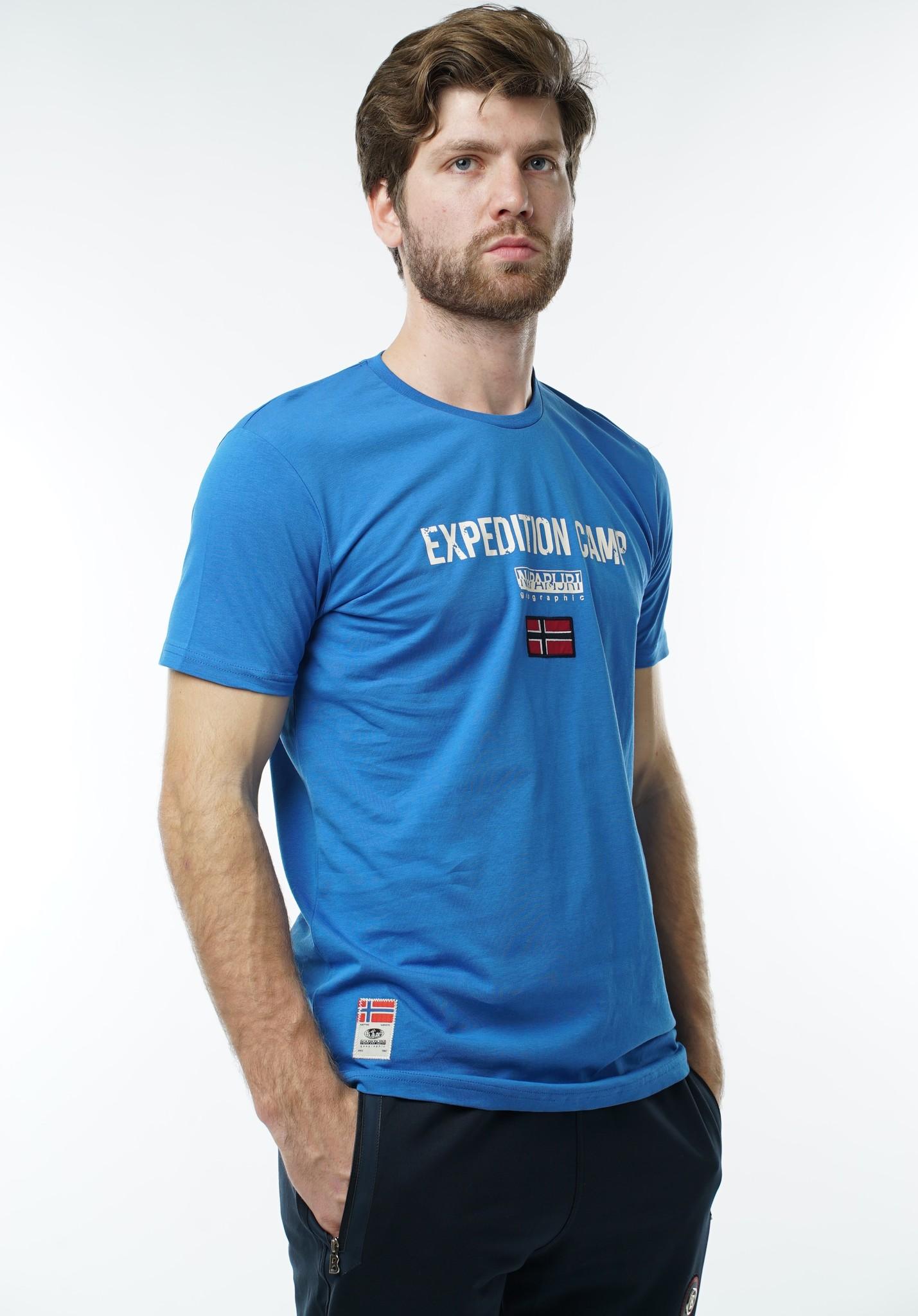 "Мужские футболки Футболка ""Napapijri"" 1040 Blue DSC05941.JPG"