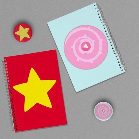 Звезда Стивена и Target Pink: набор из 2 тетрадей и 2 значков