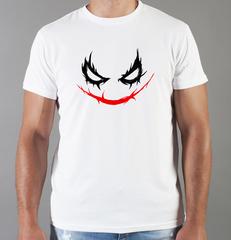 Футболка с принтом Джокер, Отряд самоубийц (Joker, Suicide Squad, Джаред Лето) белая 0042