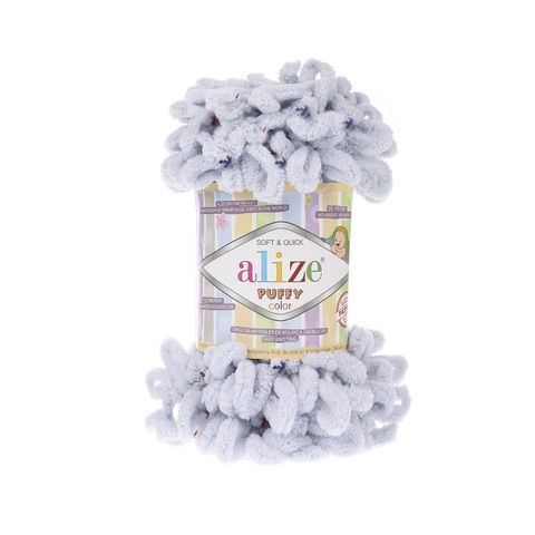 Пряжа Alize Puffy Color цвет 5850