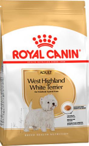 Royal Canin West Highland White Terrier Adult сухой корм для вест хайленд вайт терьеров с 10 месяцев