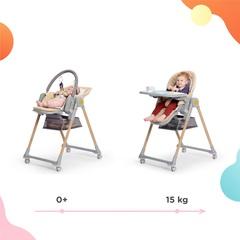 Стульчик для кормления Kinderkraft Lastree Pink с рождения