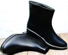 Резиновые сапоги для города женские Hello Rain Story 1019 Black