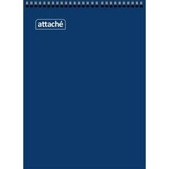 Блокнот Attache А7 60 листов синий в клетку на спирали (70x100 мм)