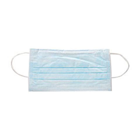 Маска медицинская 3-х слойная на резинках одноразовая (1уп - 50шт) голубые