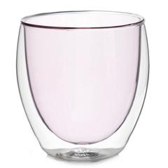 Стакан с двойными стенками цветной 250 мл, розовый