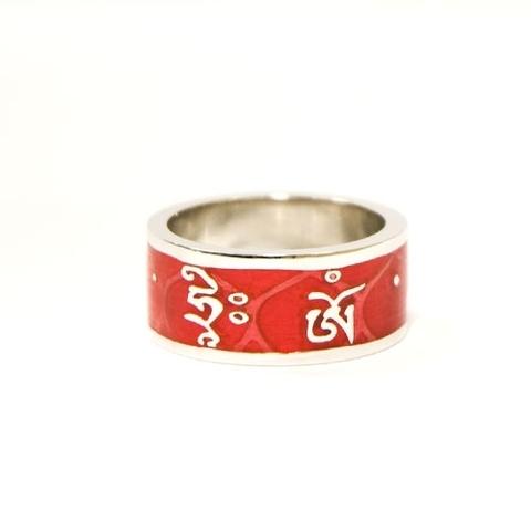 Кольцо Будда Амитабха красное