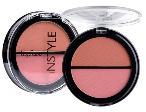 Topface Instyle Румяна Twin Blush On  №006 розовый, терракотовый  - PT353