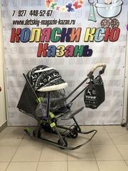 Санки коляска GALAXY KIDS 1-1 PLUS «скандинавия - полярная ночь»