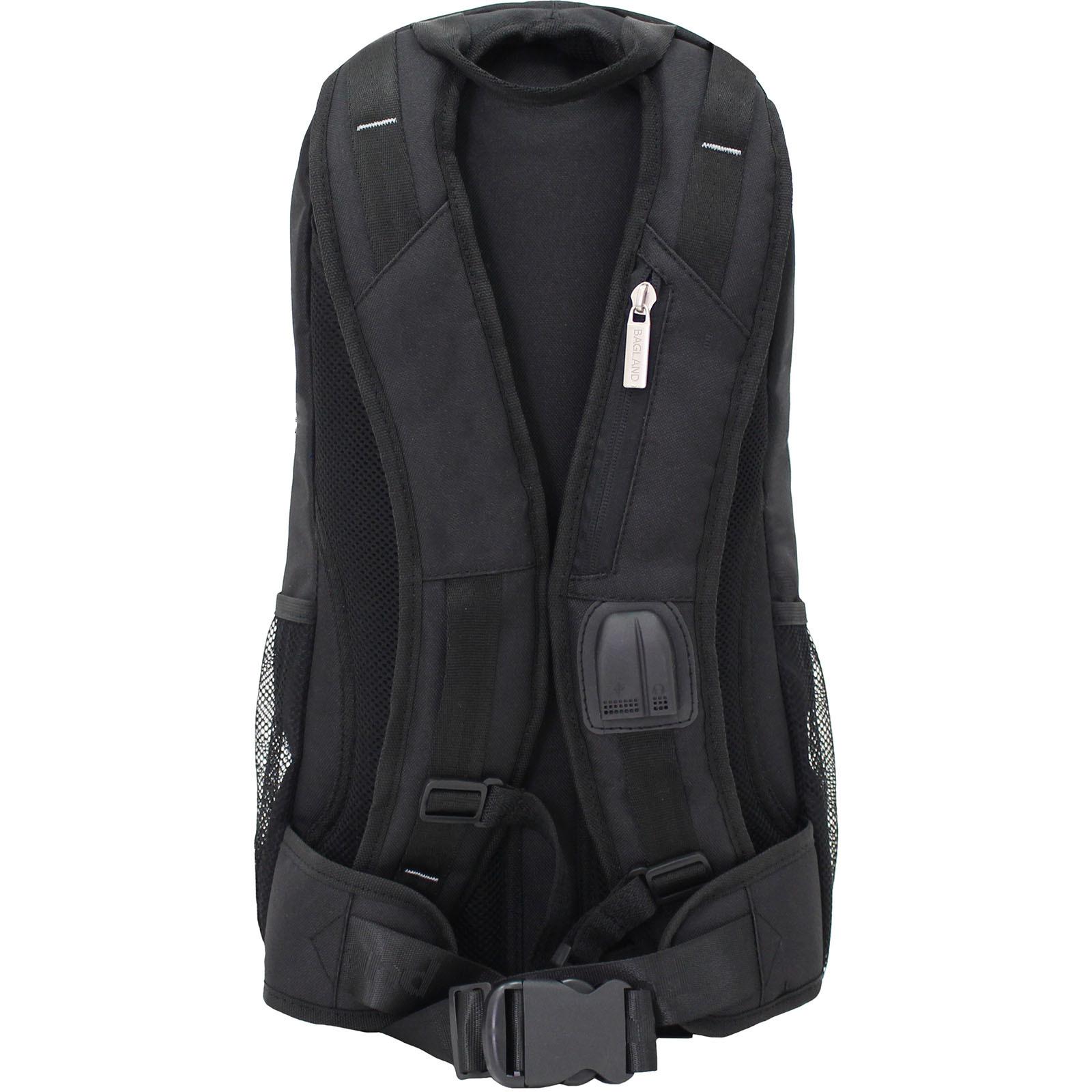 Рюкзак для ноутбука Bagland Granite 23 л. Черный/электрик (0012066) фото 3