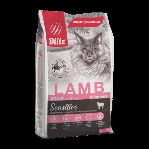 Blitz Сухой корм для кошек с ягненком