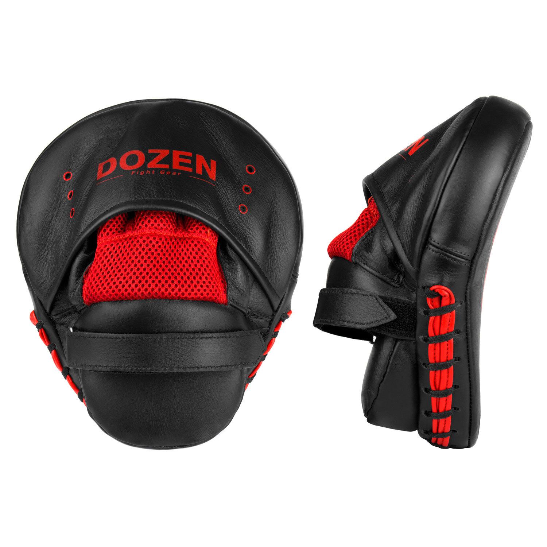 Лапы Dozen Monochrome черно-красные вид сзади и сбоку