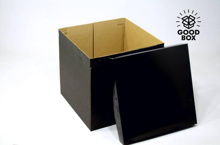 Чисто черная подарочная коробка
