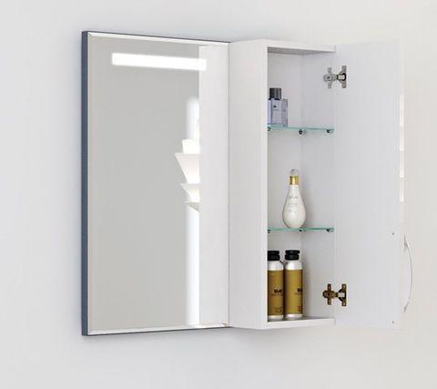 Зеркало-шкаф с подсветкой Alavann Elsa 82 х 75
