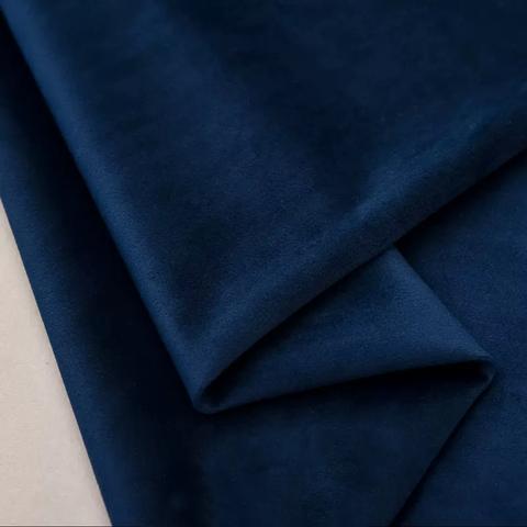 Бархат матовый стрейч, ворс 0,5 мм., 12 темно-синий (выбрать  размер)