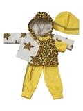 Трикотажный костюм - Желтый. Одежда для кукол, пупсов и мягких игрушек.