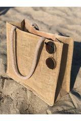 Həsir çimərlik çantası