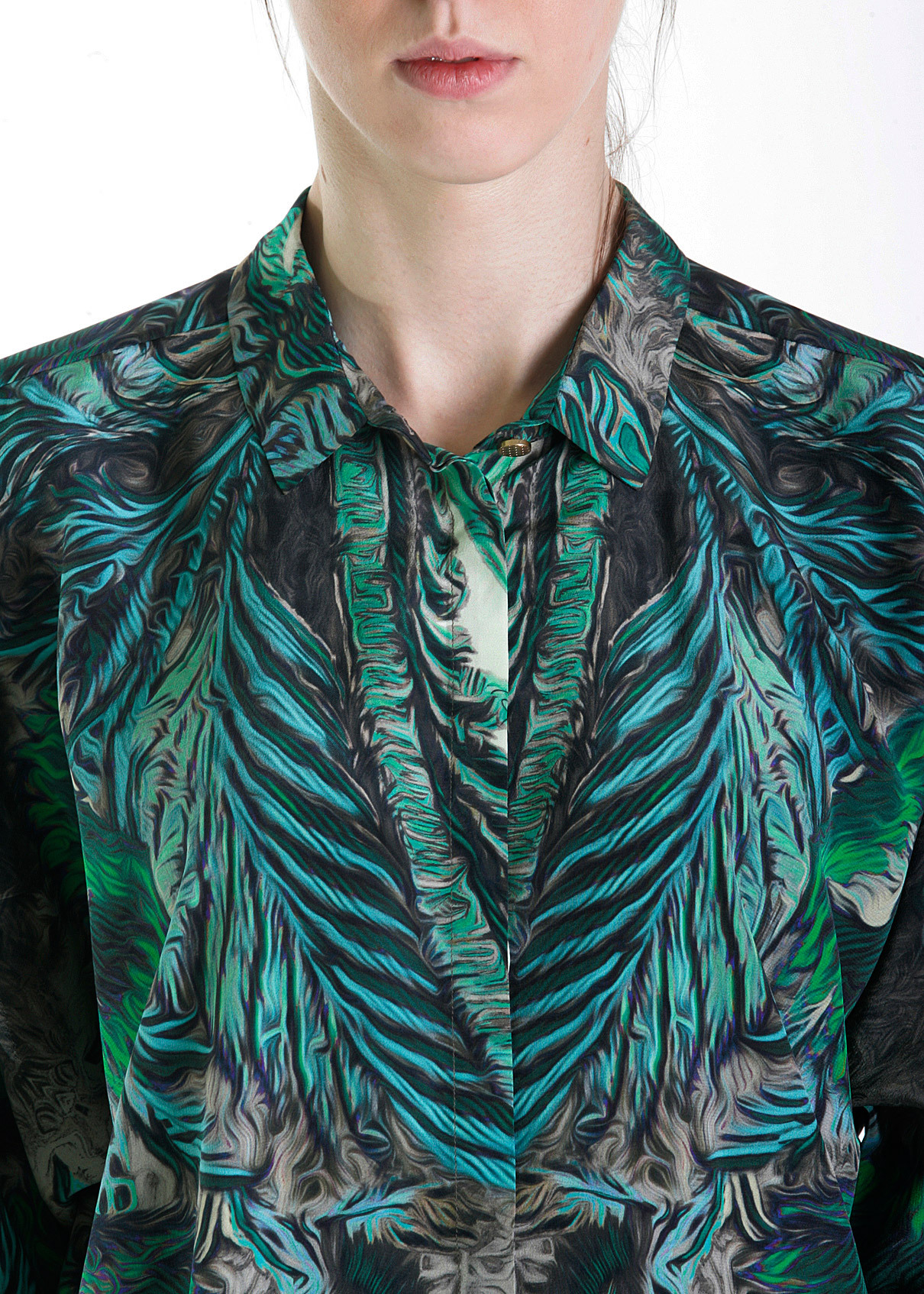 Рубашка из шелка ROBERTO CAVALLI