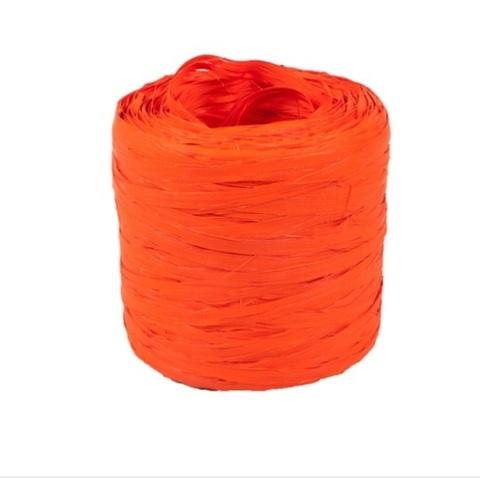 Рафия искусственная Польша 200 м Цвет:оранжевая
