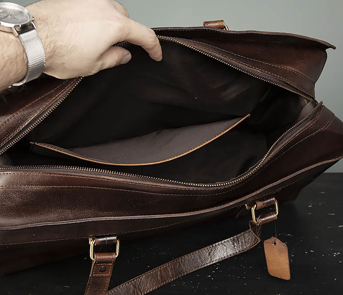 BAG468-2 Мужская сумка саквояж из натуральной кожи фото 11