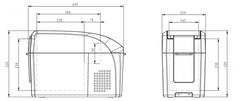 Купить Компрессорный автохолодильник COLKU DC10-F от производителя недорого.