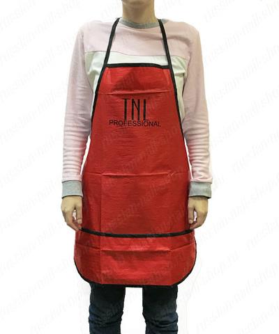 Фартук TNL красный с тройным карманом 381310