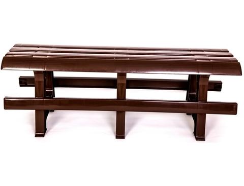 Пластиковая скамья №3 шоколадная