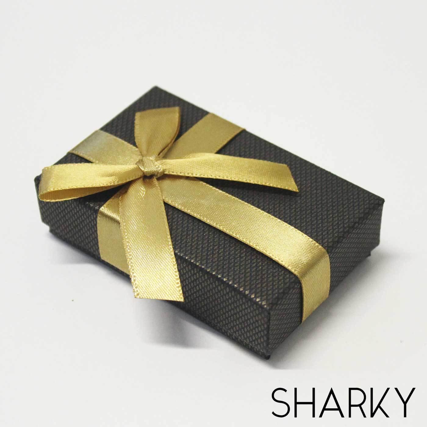 Коробочка подарочная с золотым бантом / Подарочная упаковка Отрадное