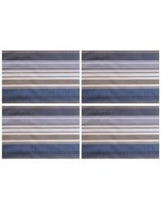 Термосалфетка кухонная плейсмат Dutamel салфетка сервировочная серо-синие полосы DTM-009 45*30 см - 1 шт