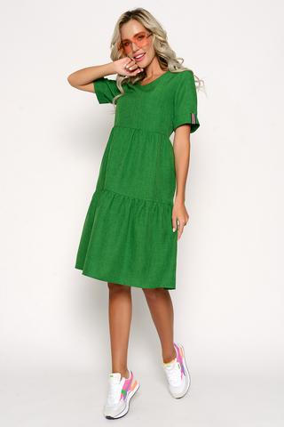 """<p>Платье """"Супер Альба"""" в стиле CASUAL уникальная новинка летнего сезона 2021. Платье с воланами &nbsp;помогает корректировать фигуру, умело скрывая мелкие недостатки и предъявляя достоинства. Воланы делают Ваш образ милым и непринужденным. (Длины: 46-48=102см; 50-52=103см)</p>"""