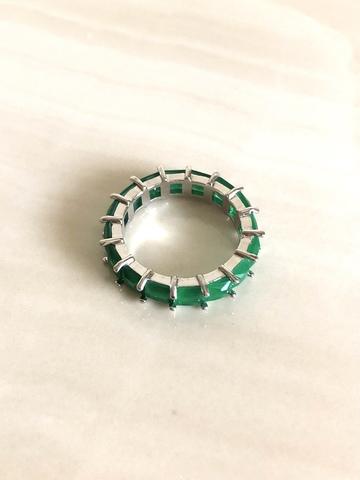 Кольцо Артуа мини, зеленое