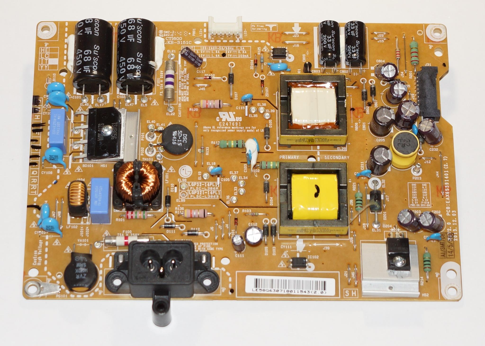 Блок питания EAX65391401(2.7) телевизора LG