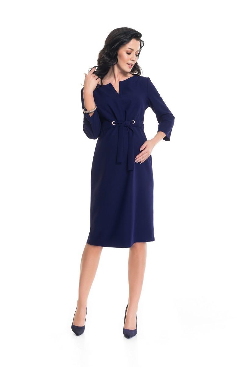 Фото платье для беременных 9Fashion, демисезонное от магазина СкороМама, синий, размеры.