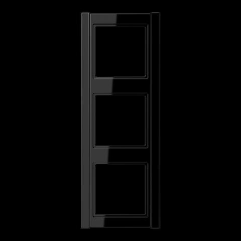 Рамка на 3 поста. Цвет Чёрный. JUNG A 500. A583SW
